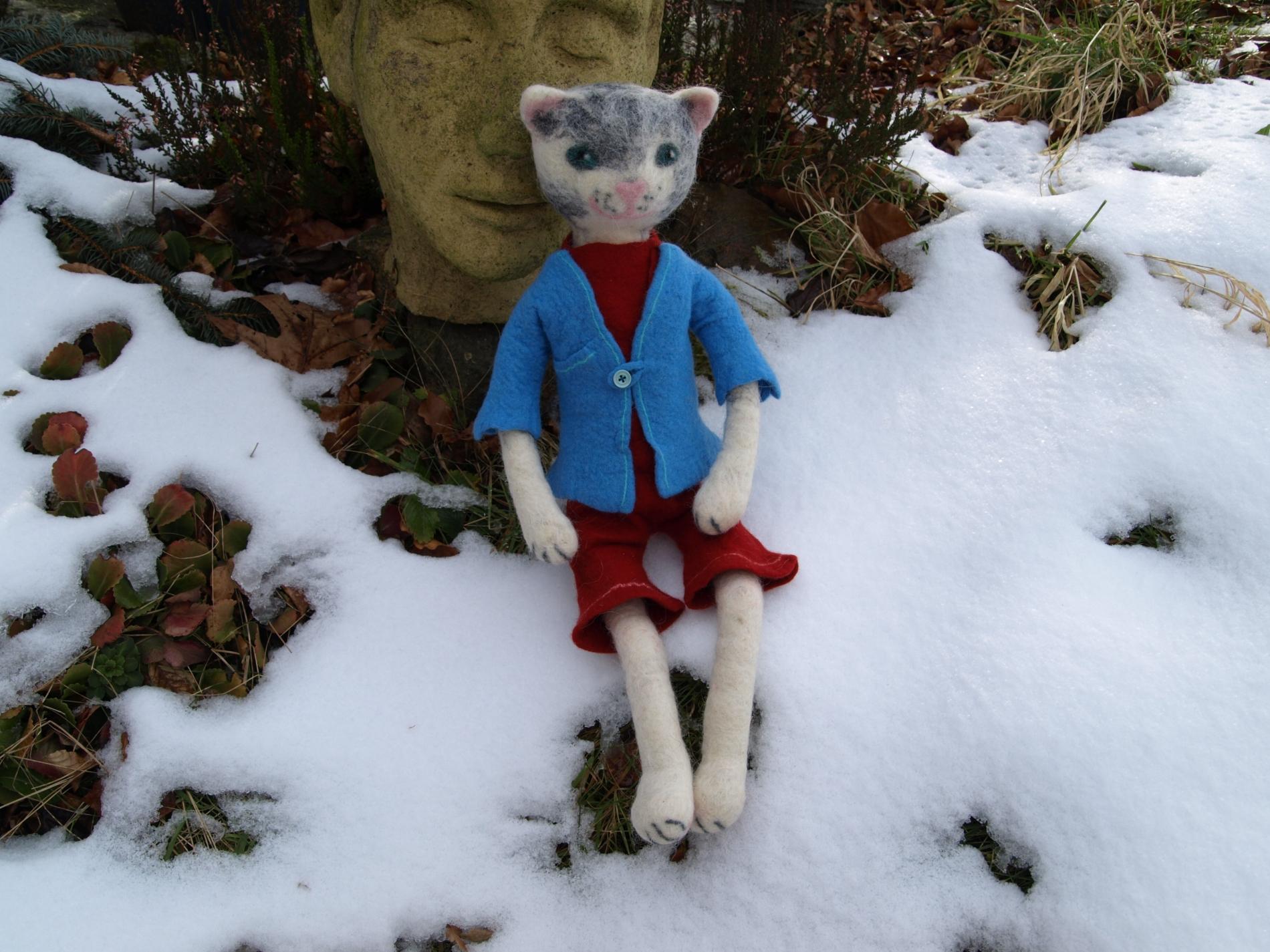 Katze-im-Schnee